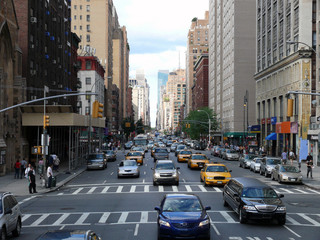Papiers peints New York TAXI Rosh Hour in New York