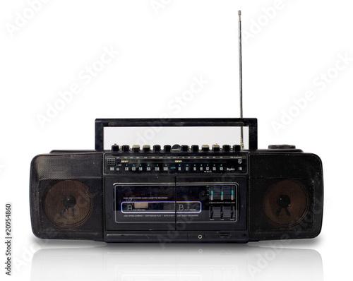 poste de radio double cassette photo libre de droits sur la banque d 39 images. Black Bedroom Furniture Sets. Home Design Ideas