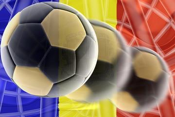 Flag of Andorra wavy soccer