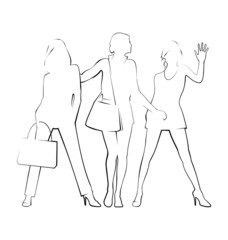 Drawing of modern women 3
