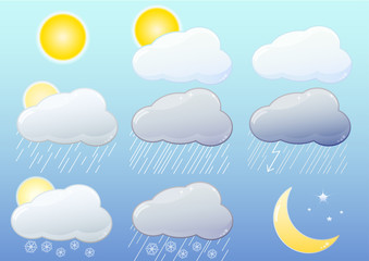Weather glossy icons