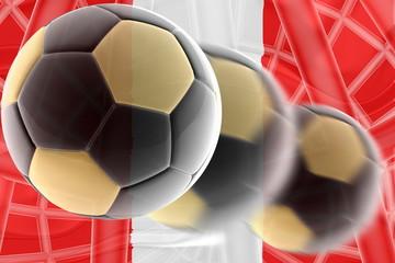 Flag of Peru wavy soccer