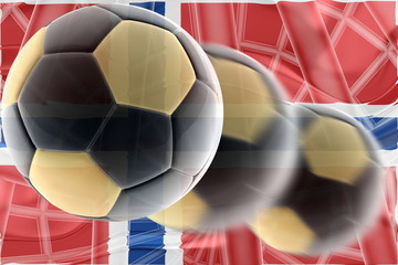 Flag of Norway wavy soccer