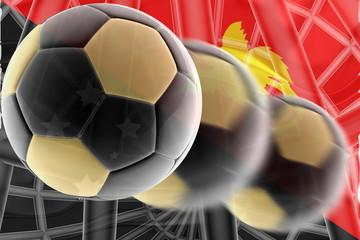 Flag of Papua New Guinea wavy soccer