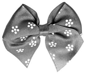 Grey festal bow isolated on white background