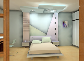 a fashion bedroom design proposal