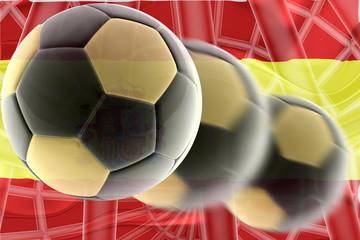 Flag of Spain wavy soccer