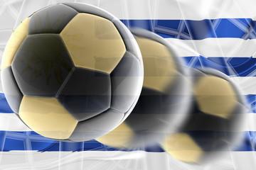 Flag of Uruguay wavy soccer
