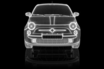 Kleinwagen - front 3d-Konstruktion