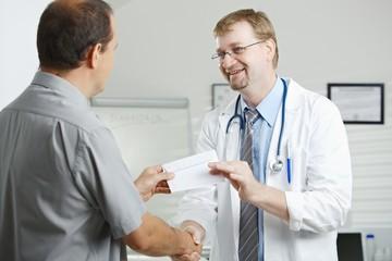 Patient bribing doctor