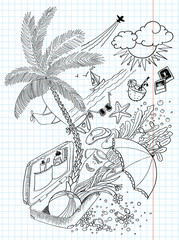 Holiday (travel) doodles