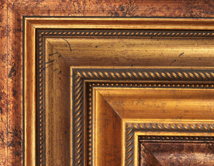 Gold picture frame samples