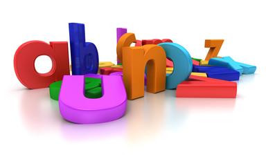 Close-up view of coloful Alphabet