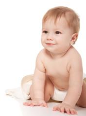 Little boy in diapers