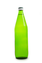 green bottle isolated close up