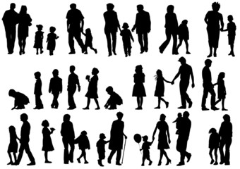 Silhouettes parents