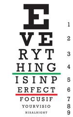 Optometry Eye Chart Illustration