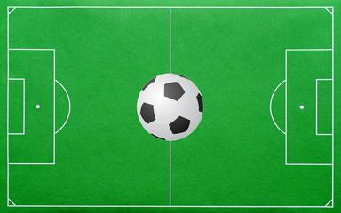 Soccer Pitch - Fussballplatz mit Fussball
