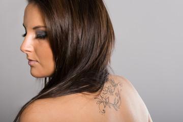 Beautiful women with tatto