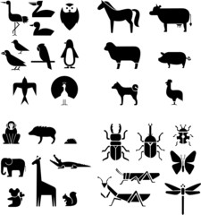 animals group vector
