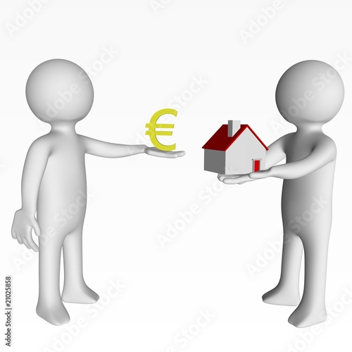La transaction immobili re photo libre de droits sur la for Transaction immobiliere