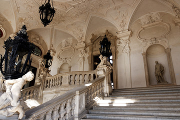 Wien / Vienna / Treppenaufgang oberes Belvedere