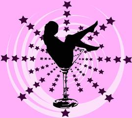donna dentro drink - versione rosa