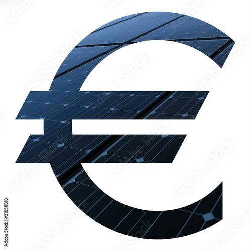 sigle euro photovolta que photo libre de droits sur la banque d 39 images image. Black Bedroom Furniture Sets. Home Design Ideas