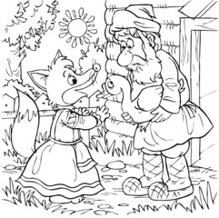 Fox and peasant