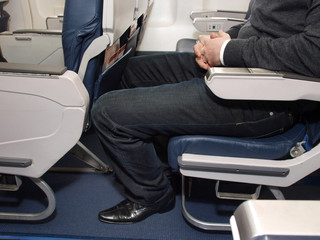 Lack of legroom on plane