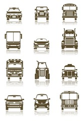 illustration of different Transportation icon set