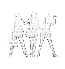 Three female silhouettes