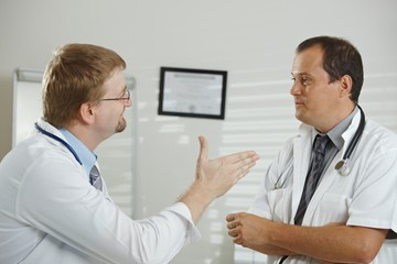 Doctors talking