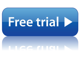 """Free trial"" web button (online shopping offer special vector)"