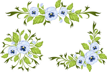 Pansy: decorative elements