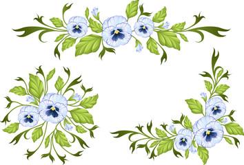 Pansy: decorative elements