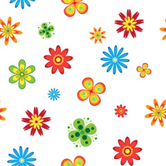 Flowers seamless