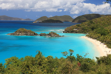 Paradise-like US Virgin Islands in the Caribbean.