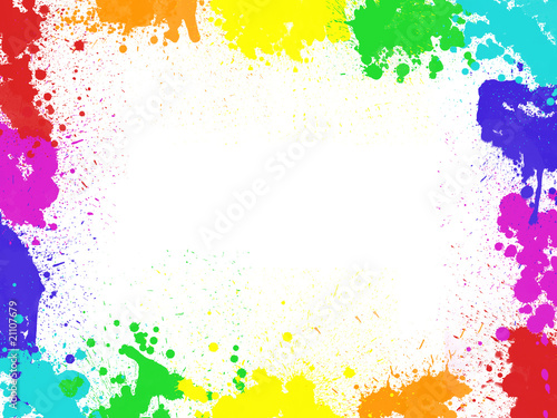cadre taches de peinture photo libre de droits sur la banque d 39 images image 21107679. Black Bedroom Furniture Sets. Home Design Ideas
