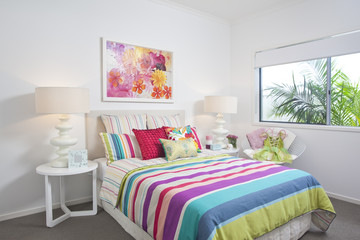 childrens bedroom in modern townhouse