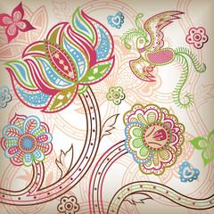 Asia Floral Bird Quetzal