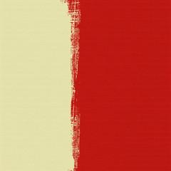 Cream box on red background