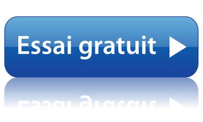 Bouton web ESSAI GRATUIT (internet offre spéciale nouveauté)