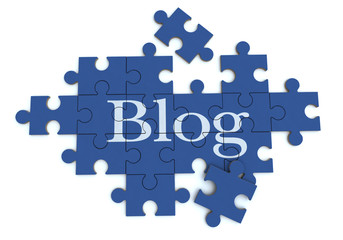 Blog  puzzle in blue
