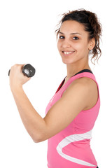 teenager dumbbells sport
