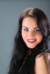 portrait young woman face