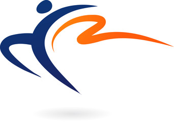 Sport vector logo - gymnastics
