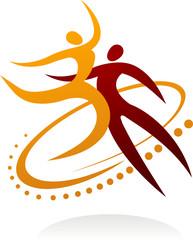 Dancing couple logo  - 1