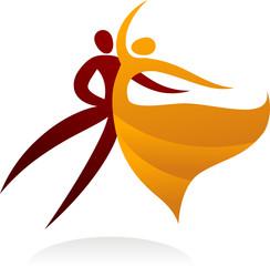 Dancing couple logo  - 2