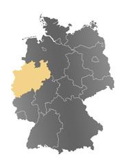 Deutschlandkarte Nordrhein-Westfalen